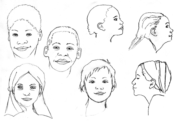 Sketchbook kid faces00