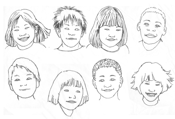 Sketchbook kid faces01